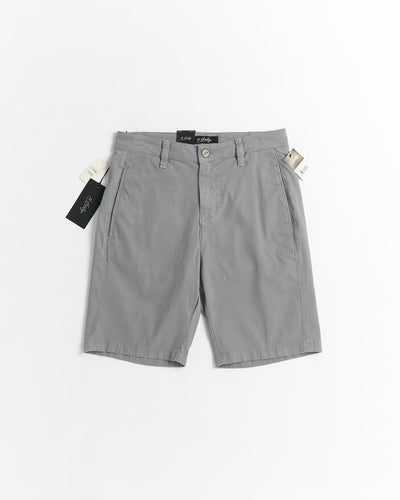 34 Heritage 'Nevada' Grey Ribbed Twill Bermuda Short 04206-33681