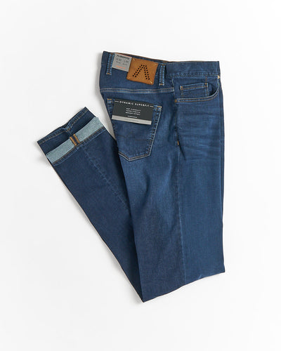 Alberto Pipe Fit Dynamic Superfit Washed Denim Jeans