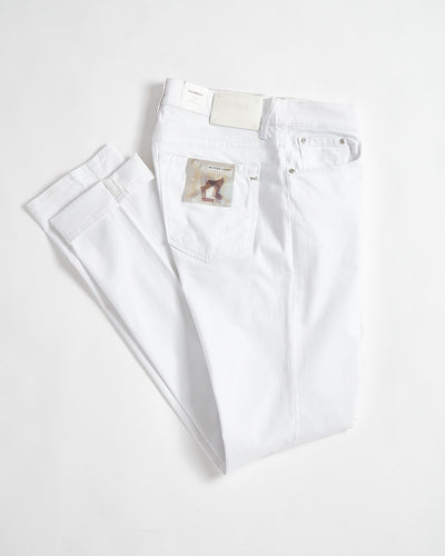 Brax Chuck Hi-Flex White 5 Pocket Pants 84-6407-99