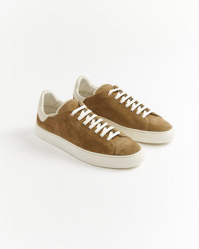 Goodman Brand 'Legend Z' Low Top Taupe Brown Suede Sneaker G97Z31-293-CORK