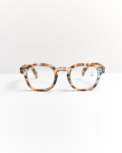 IZIPIZI Blue Tortoise Retro Reading Glasses #C LMSCC18-BLUE TORTOISE