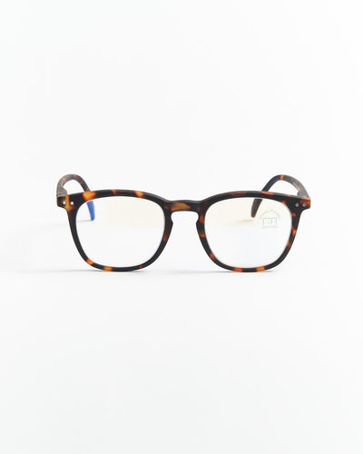 IZIPIZI Tortoise Trapeze Screen Reading Glasses #E LMSEC18-BLUE TORTOISE