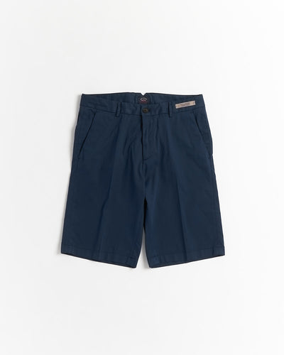 Paul & Shark 'Chino Silk' Blue Stretch Luxury Bermuda Shorts