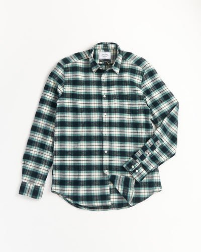 PORTUGUESE FLANNEL MINT PLAID FLANNEL SHIRT