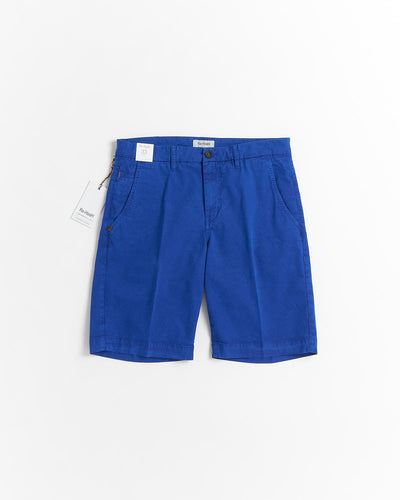 Re-Hash 'Bernini' Cobalt Blue Micro Check Stretch Shorts