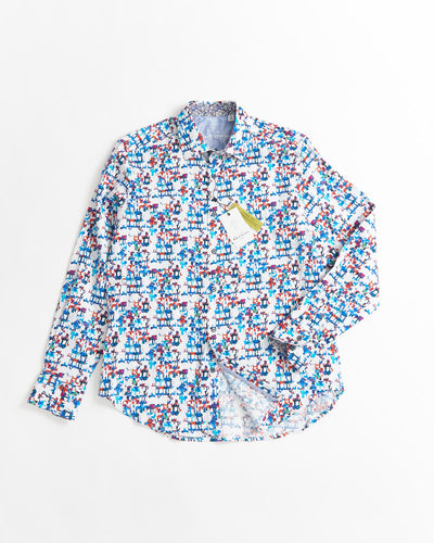 ROBERT GRAHAM CLASSIC FIT DIAMOND SHIRT
