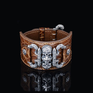 Inquisitor Cuff Bracelet (Crocodile)