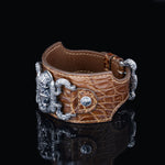 Load image into Gallery viewer, Inquisitor Cuff Bracelet (Crocodile)