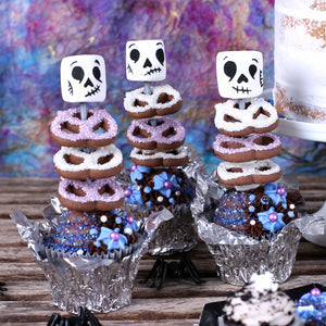Edible Skeleton Cupcake Toppers