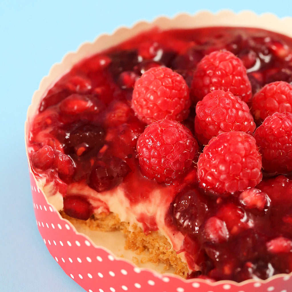 Gluten Free Cran-Raspberry Cheesecake Recipe