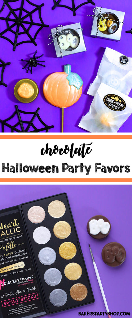 Chocolate Halloween Party Favors | www.bakerspartyshop.com