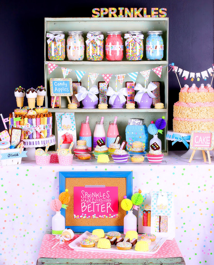 Sprinkles And Sweet Treats Styled Party Display And