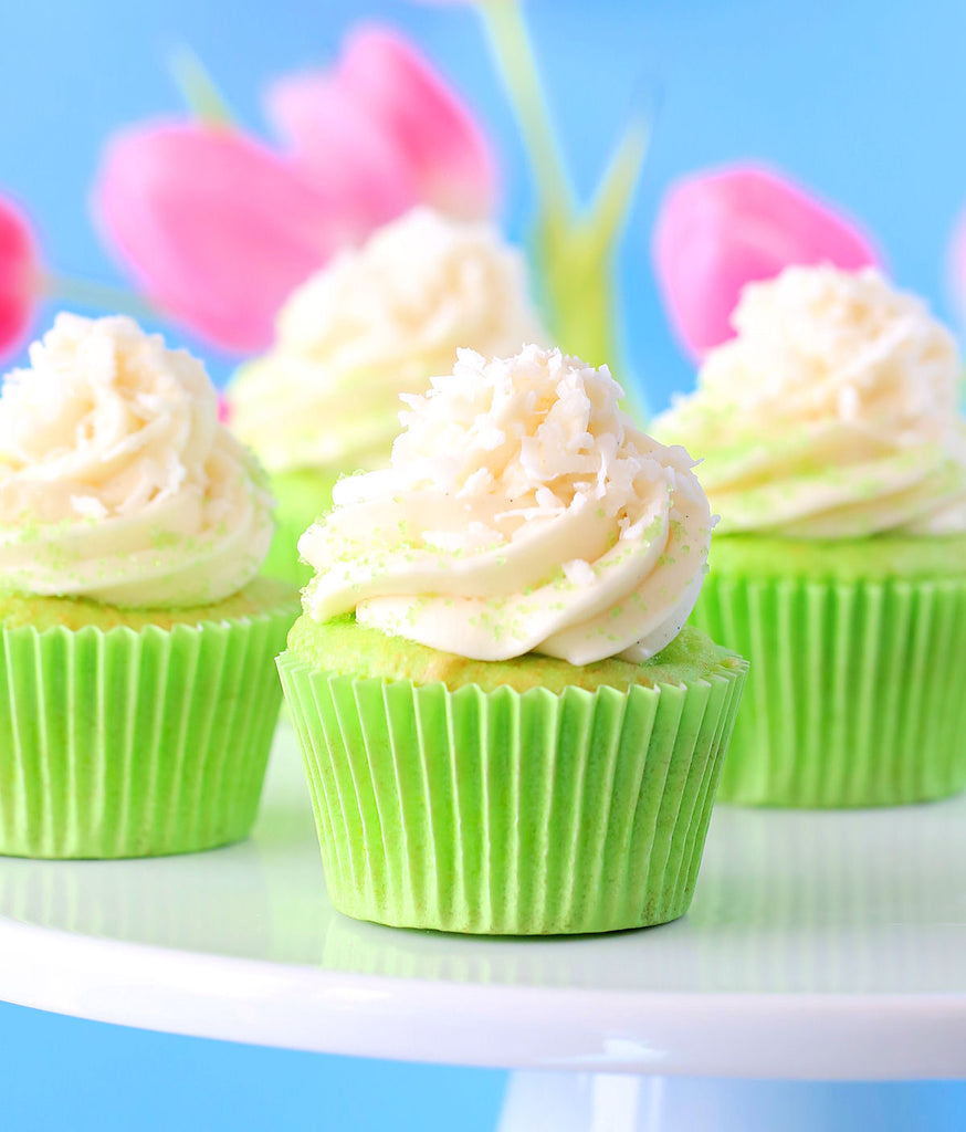 Surprise Coconut Key Lime Cupcakes