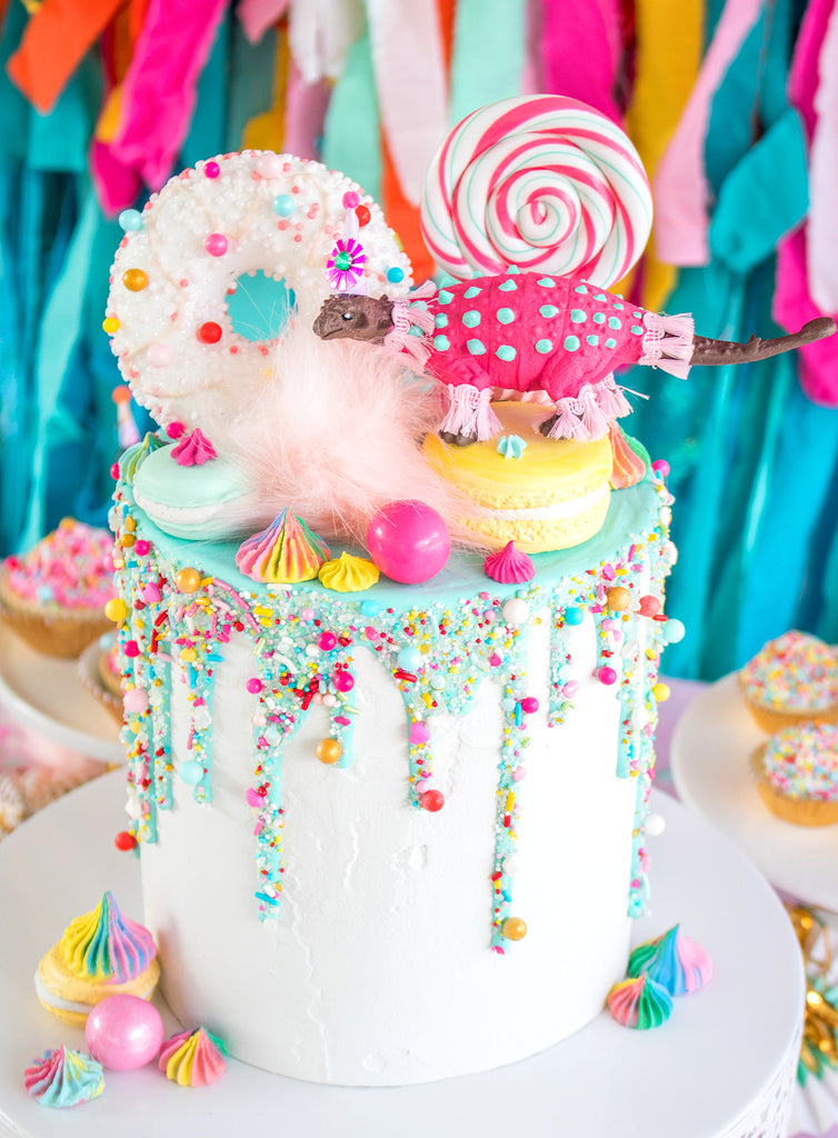 Rainbow Cakesicles Tutorial + Hip Hip Hooray Party Table | www.bakerspartyshop.com