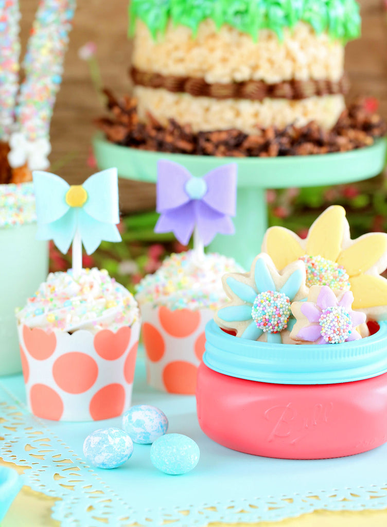 Garden Party Dessert Table | www.bakerspartyshop.com
