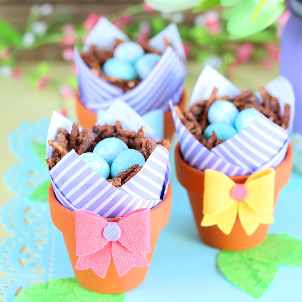 Robin's Nest Rice Crispy Treat Cups | www.bakerspartyshop.com