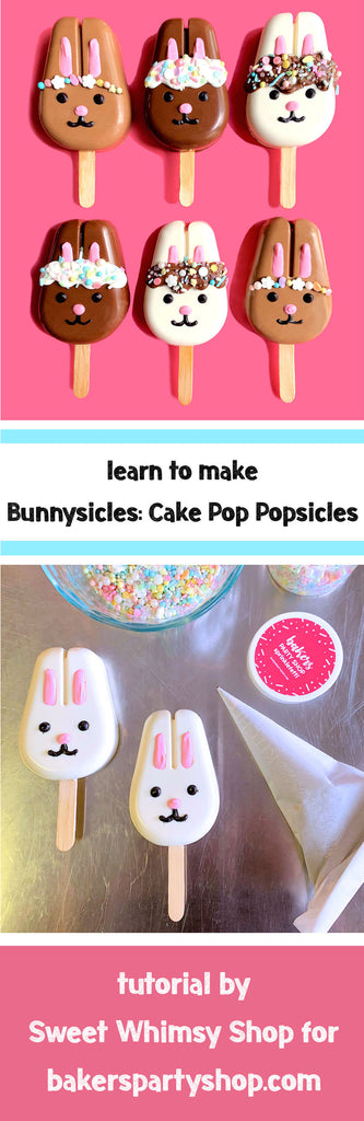 Bunnysicle Tutorial by Sweet Whimsy Shop for www.bakerspartyshop.com
