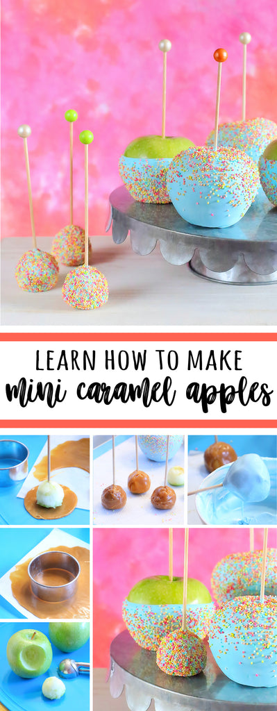 How to Make Mini Caramel Apples | www.bakerspartyshop.com