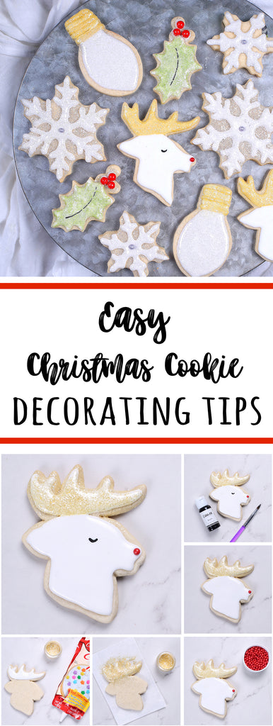Easy Cookie Decorating Tips: Christmas Sugar Cookies | www.bakerspartyshop.com