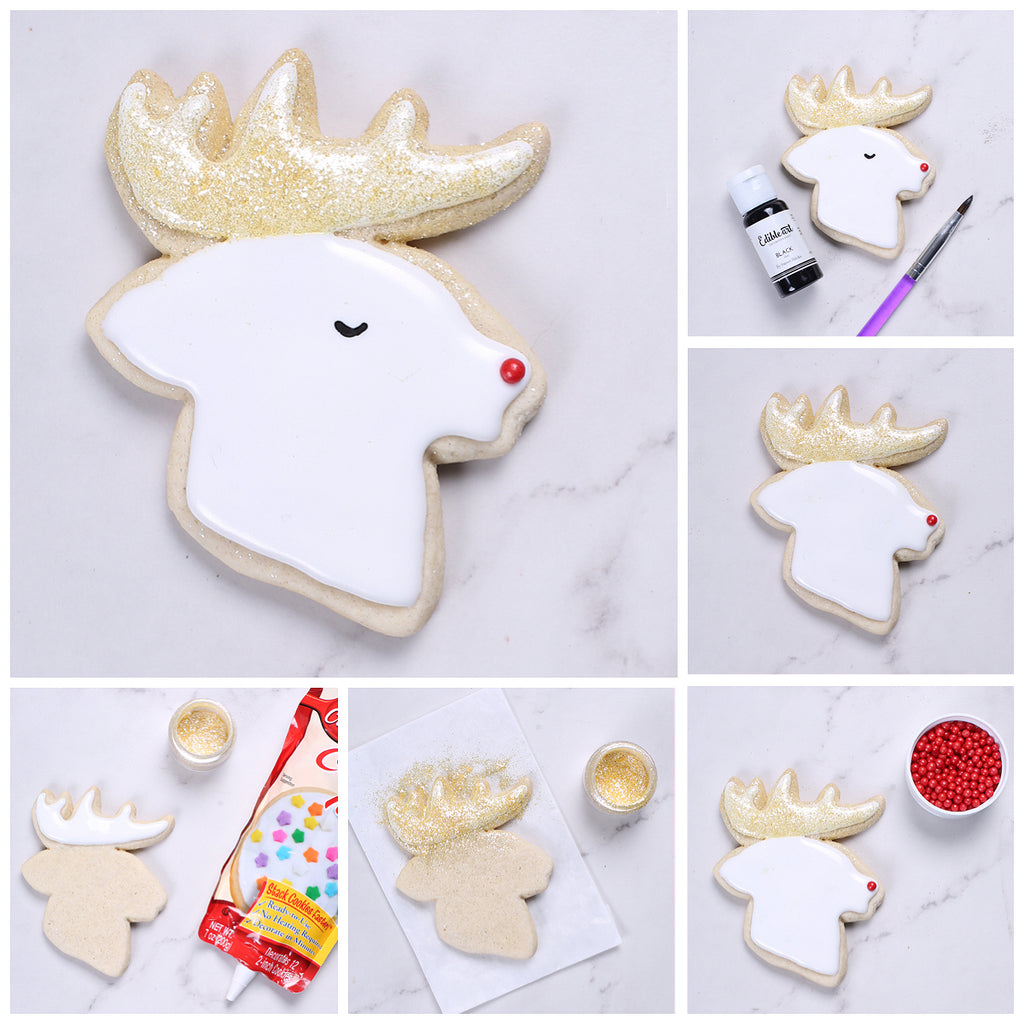 Easy Cookie Decorating Ideas: Christmas Sugar Cookies | www.bakerspartyshop.com