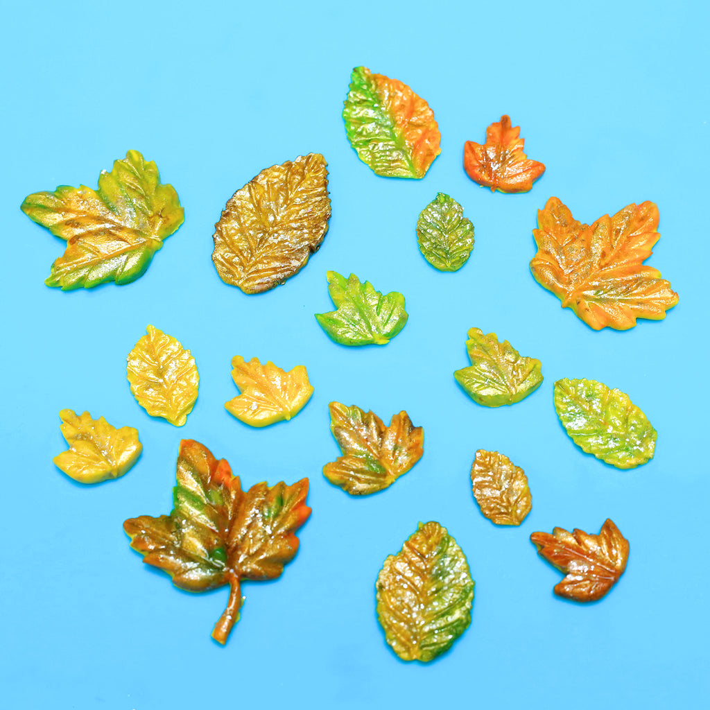 Learn How to Make Fondant Fall Leaves for Cake Decorating + Chocolates | bakerspartyshop.com