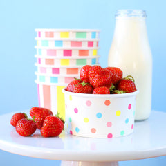 Low Sugar Strawberry Raspberry Ice Cream | www.bakerspartyshop.com