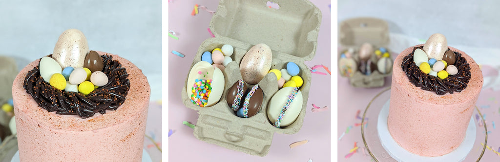Egg-cellent Sweets for Spring: Egg Cookies, Gummies, Cake + Cake Balls | www.bakerspartyshop.com