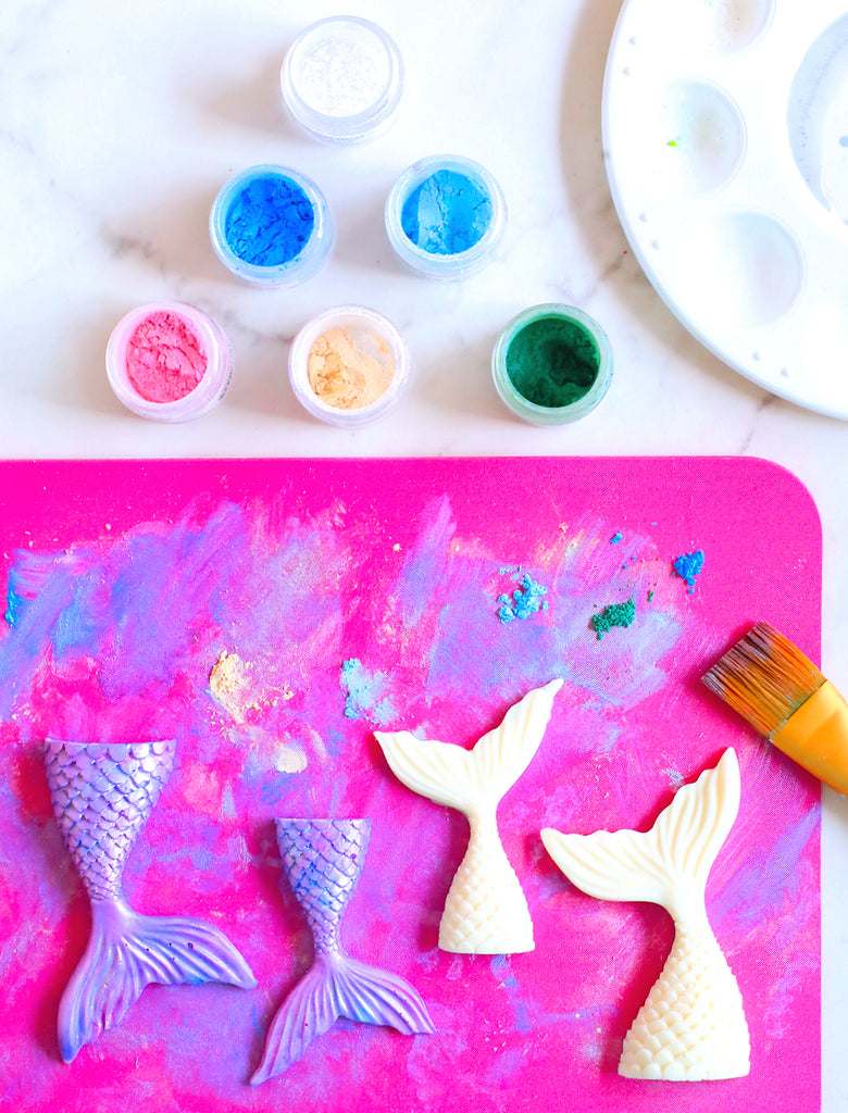 How to Make Mermaid Tail Chocolates | www.bakerspartyshop.com