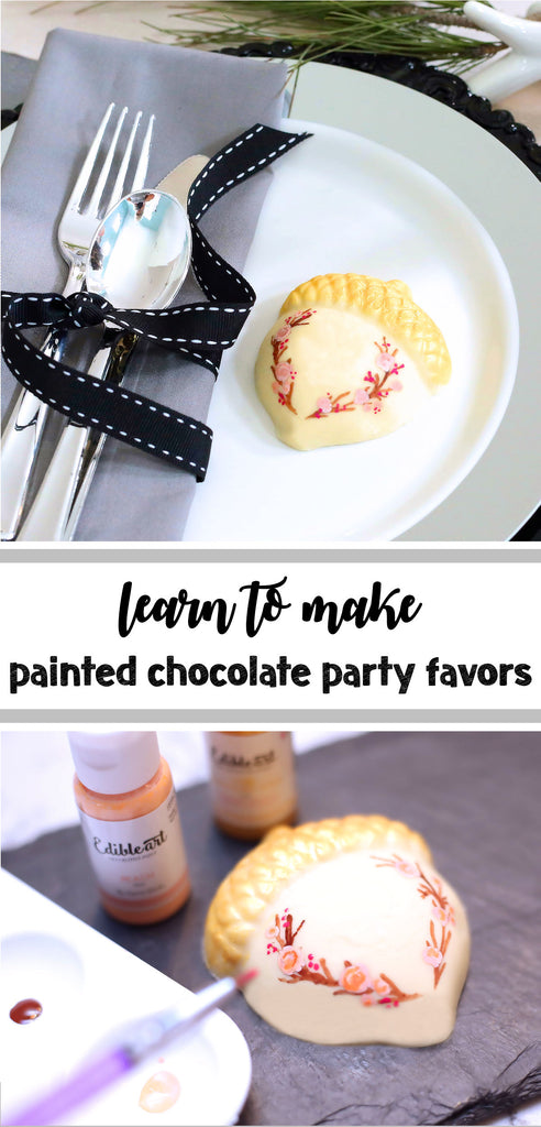 Painted Chocolate Party Favors Using Edible Art Paint | www.bakerspartyshop.com