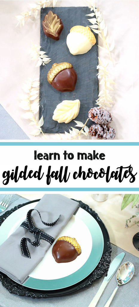 Gilded Fall Chocolates Using Edible Art Paint | www.bakerspartyshop.com
