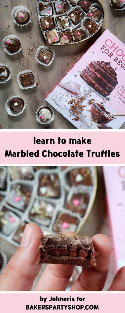 How to Make Marbled Chocolate Truffles | www.bakerspartyshop.com