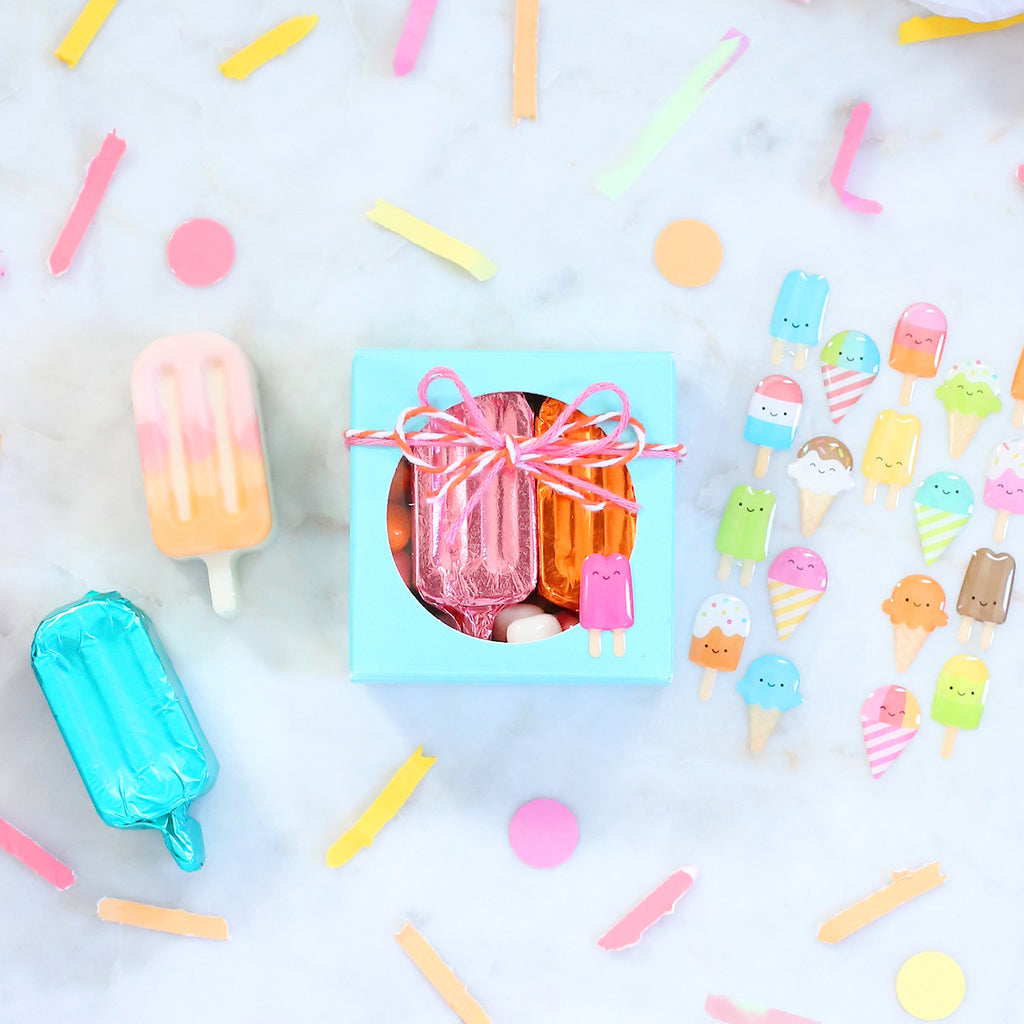 Chocolate Popsicle Party Favors | www.bakerspartyshop.com