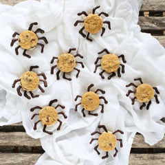 Chocolate Chip Sandwich Cookie Spiders | www.bakerspartyshop.com