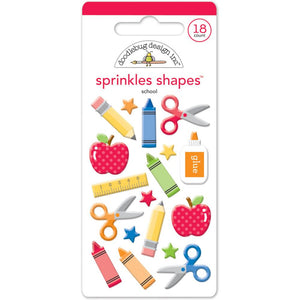 Glossy Back to School Stickers | www.bakerspartyshop.com