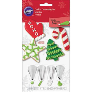 Christmas Cookie Decorating Set by Wilton | www.bakerspartyshop.com