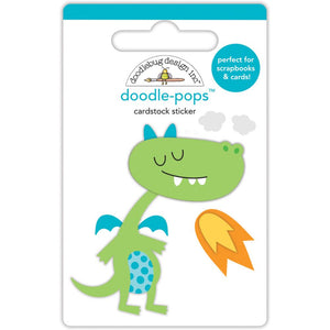 Doodle-Pops Dragon Sticker | www.bakerspartyshop.com