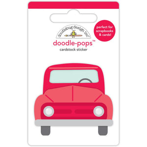 Doodle-Pops Red Truck Sticker | www.bakerspartyshop.com