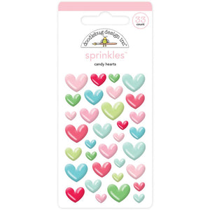 Glossy Candy Heart Stickers | www.bakerspartyshop.com