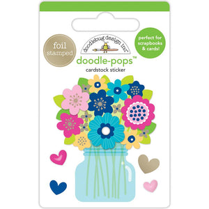 Large trendy Flowers Sticker | www.bakerspartyshop.com