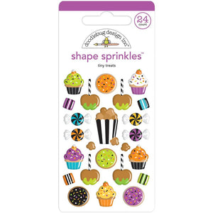 Glossy Halloween Stickers: Tiny Treats | www.bakerspartyshop.com