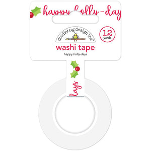 Christmas Washi Tape: Happy Holly-Days | www.bakerspartyshop.com