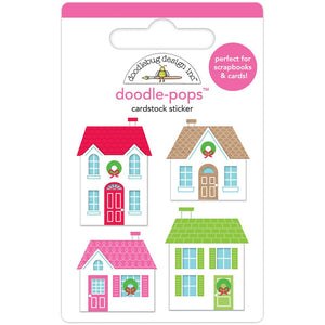 Christmas Stickers: Christmas Town | www.bakerspartyshop.com