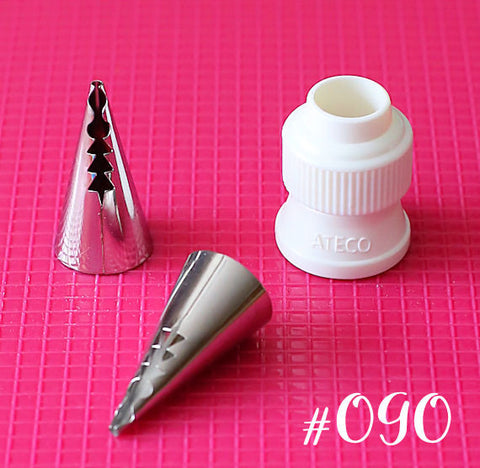 Ateco Ruffle Frosting Tip: 090 | www.bakerspartyshop.com