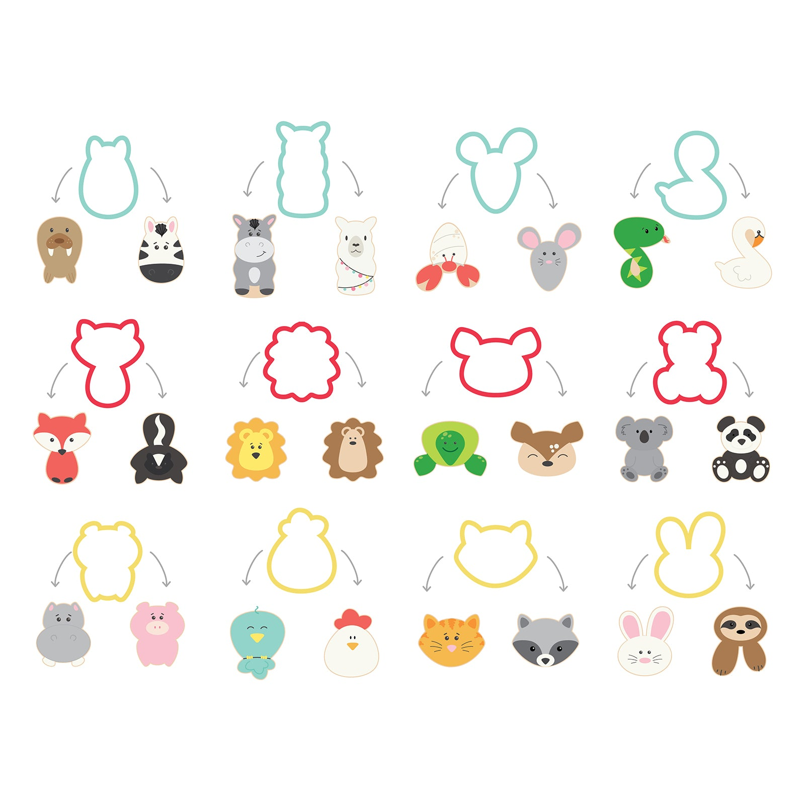 buy popular exclusive shoes multiple colors Sweet Sugarbelle Animal Cookie Cutter Set