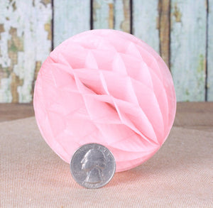 White Honeycomb Tissue Balls: 3"