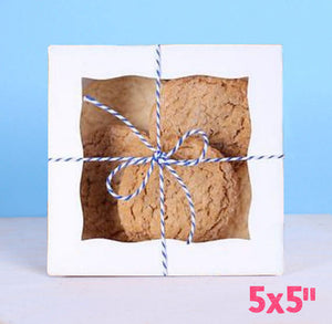 Mini White Bakery Boxes: 5x5"