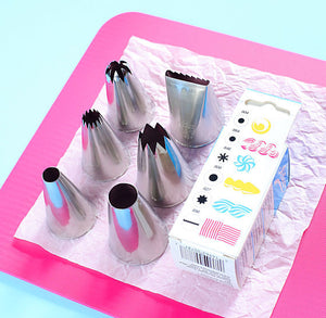 Ateco Large Frosting Tip Set: 6 Piece | www.bakerspartyshop.com