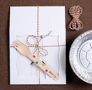 Christmas Small Pie Box Kit: White | www.bakerspartyshop.com