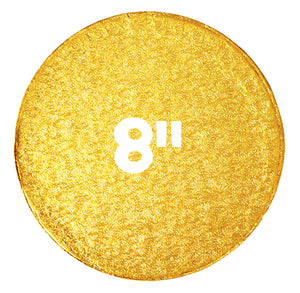 8 Inch Cake Boards: Thick Gold | www.bakerspartyshop.com