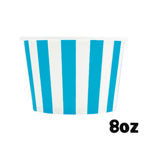 Large Blue Ice Cream Cups: Stripe | www.bakerspartyshop.com
